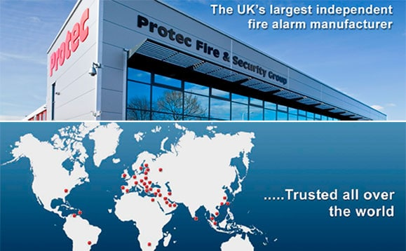Protec is the largest independent fire alarm manufacturer in UK